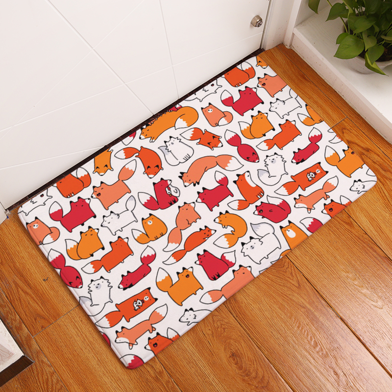 New Arrival Creative Rugs Washable Lovely Animal Geometry Carpet Mats Bedroom Non-Slip Floor Mats Area rug for living room