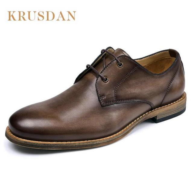 bca4658d98 Fashion designer Italiano dos homens se vestem sapatos de couro Genuíno marrom  café formal do negócio