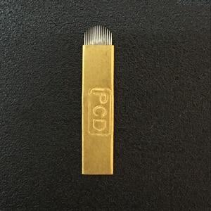 Image 3 - 50 Pcs Microblading קשיח מחטי 12/14/12u/14u עבור Microblading רקמת עט Pernement איפור מכונת