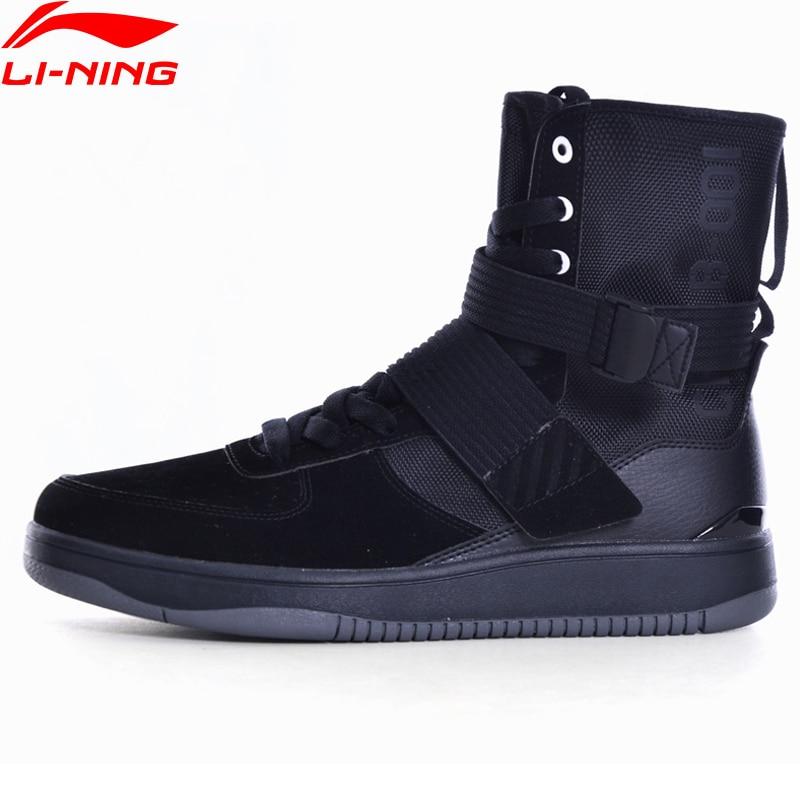 Li-Ning Men Sport Walking Shoes Support Sneakers Sock-Like Stability LiNing Sneakers Sports Shoes GLKM117 YXB124 original li ning men professional basketball shoes