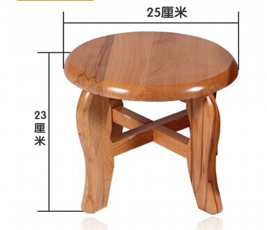 Small Wooden Seat Stool Solid Wood Chair Table Chair Chair Salon