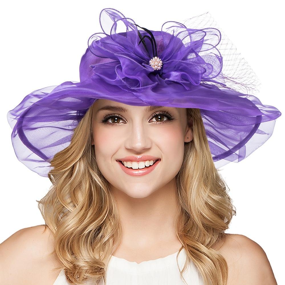 Sinamay Fascinator sombreros mujeres vinchas lujo para Kentucky ...