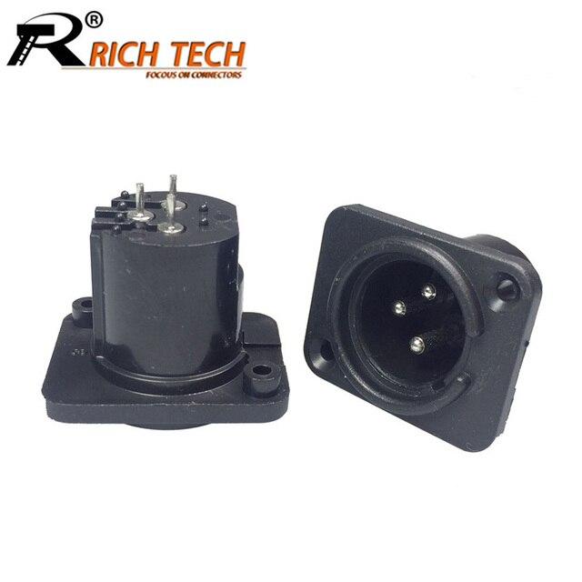 Aliexpress.com : Buy 10pcs/lot 3 Pin Male Plug Panel Mount XLR ...