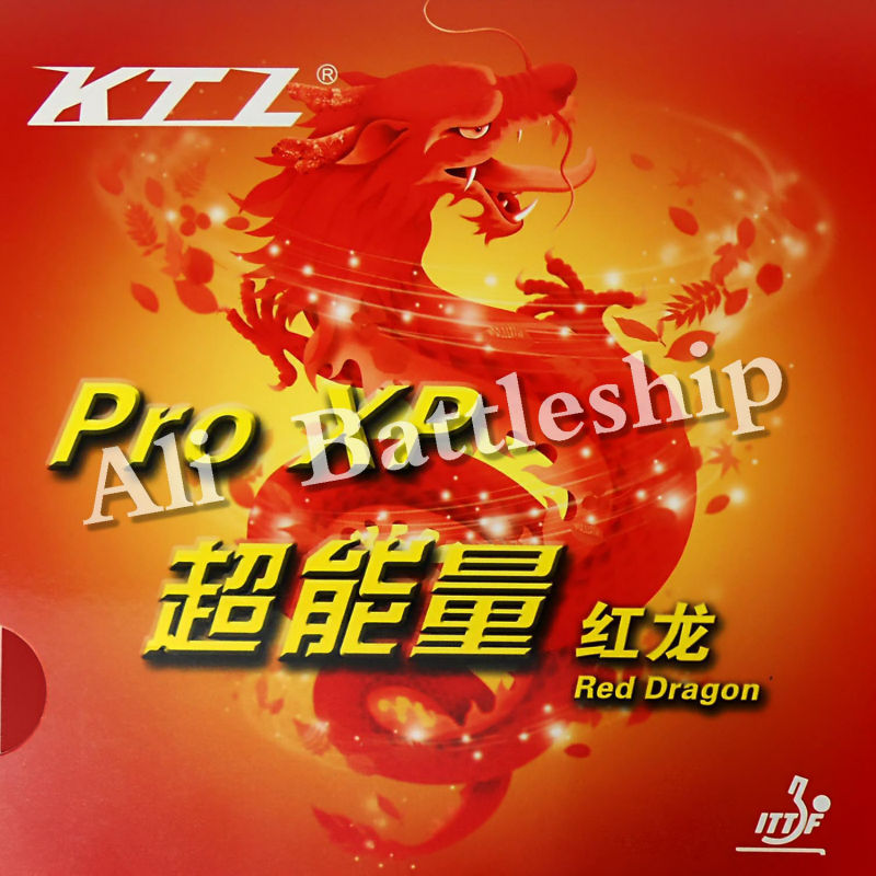 Original KTL Pro XP Red Dragon Pips-in Table Tennis Pingpong Rubber With Sponge
