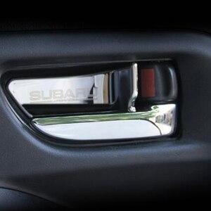 Image 4 - רכב פנים דלת ידית קערת כיסוי תיקון לקצץ עבור סובארו פורסטר Xv אאוטבק Legacy אימפרזה StI STI 2013 2017 רכב סטיילינג