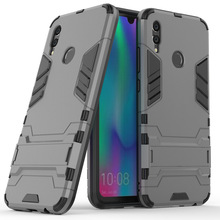 Case For Huawei Honor 10 Lite Hybrid Armor Case With Kickstand 2in1 Soft TPU & Hard Back Anti Drop Cover For Huawei Honor 10Lite leegoal tm armor combo silicone hybrid hard case cover with kickstand fit for apple ipod touch 5g with accessories sreen protector anti dust plug