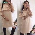 Taovk rússia projeto estilo new arrivals outono dress mulheres manga comprida vestidos sem alças