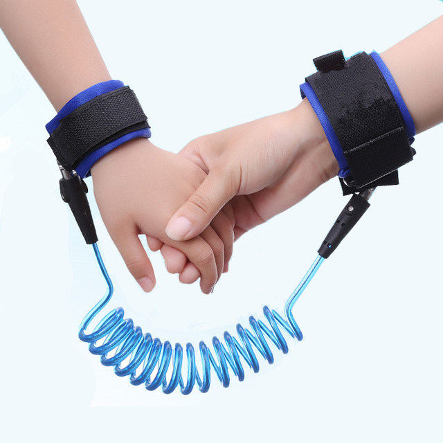 1.5m 2.5m Adjustable Kids Safety Anti-lost Wrist Link Band Children Braclet Wristband Baby Toddler Harness Leash Strap 2
