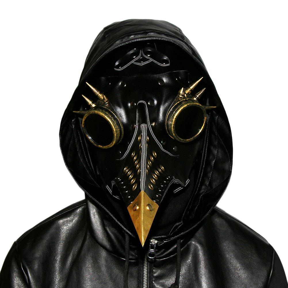 Unique Design Hand Made Leather Plague Doctor Death Mask Bird Beak Steampunk