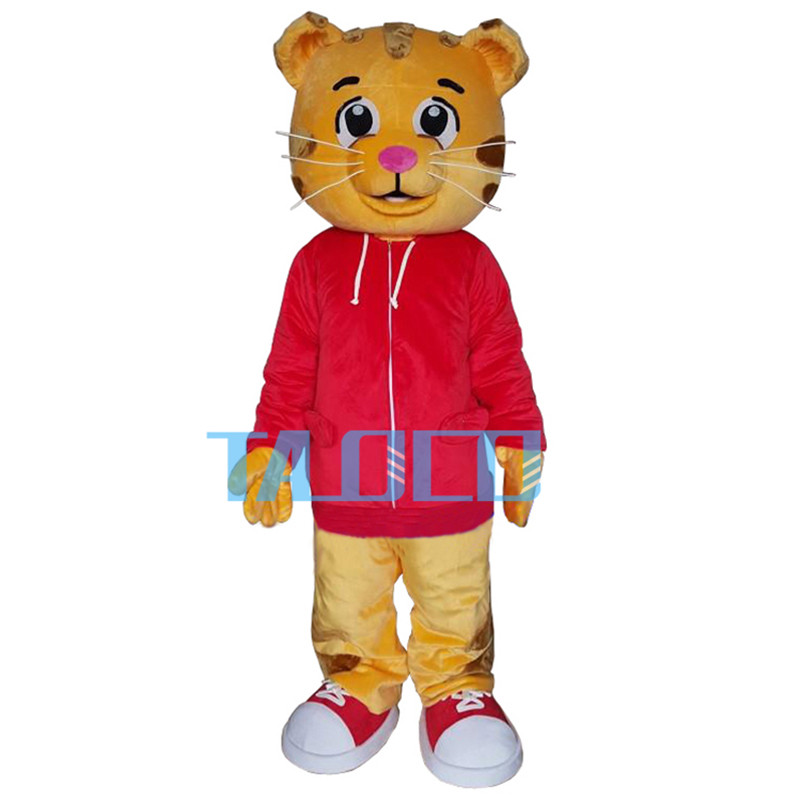 Mignon Daniel le tigre veste rouge personnage de dessin animé mascotte Costume robe fantaisie