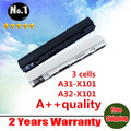New 3 cells laptop battery A31-X101 A32-X101 for  ASUS EeePC  X101C X101CH X101H X101 free shipping