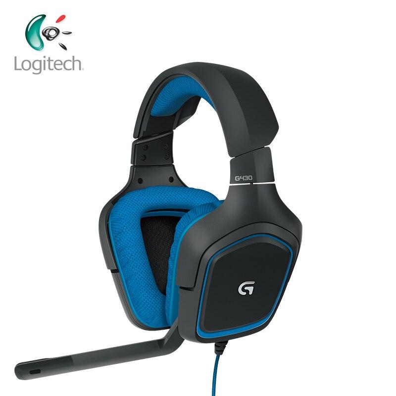 Logitech G430 7.1 casque de jeu Surround avec micro antibruit pour Windows PS4 ou Xbox casques filaires pour tous les Gamer