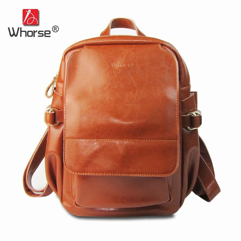 Brand Vintage Casual Style Genuine Leather Women's Backpacks Large Capacity Women Backpack Ladies Cowhide School Bag W08900