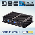 [CE & FCC & ROSH] mini computador fanless mini pc windows 7 core i5 4200u 2 * rs232 acidentada pc mini computador industrial pc 4 k caixa de tv