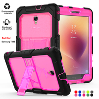 Shockproof Tablet Protective Covers For Samsung Tablet Galaxy Tab a 8 T385 Case Soft With Bracket