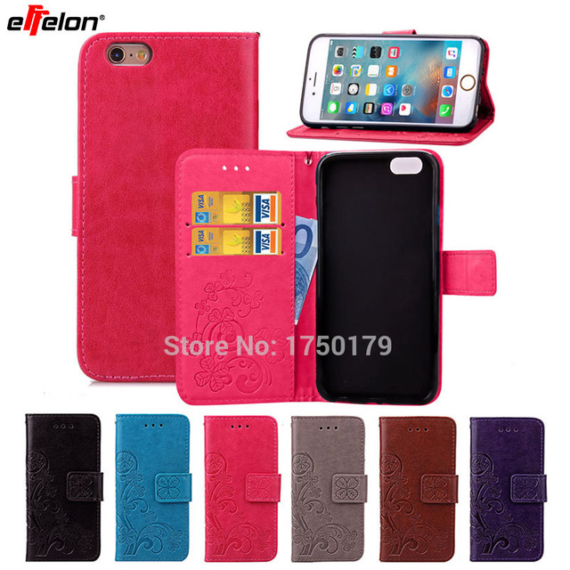 seashore fashion embossing wallet flip leather cover case for apple