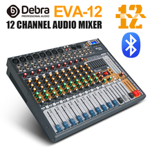 Debra Audio Clean sound!Pro EVA-12 12Channels Mixer dj consoler with 48V Phantom Power USB  Bluetooth for Recording Stage