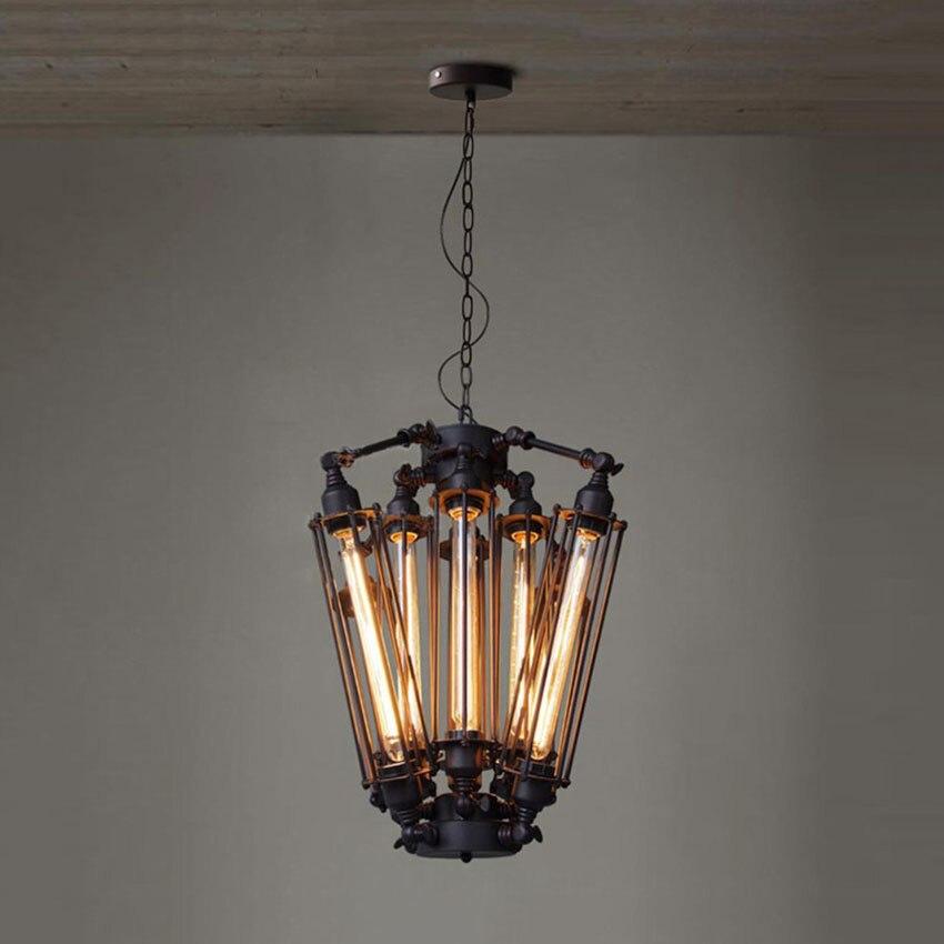 Lampes suspendues rétro américaines lampe industrielle  Loft Vintage Restaurant Bar Alcatraz île Edison lampe suspendue