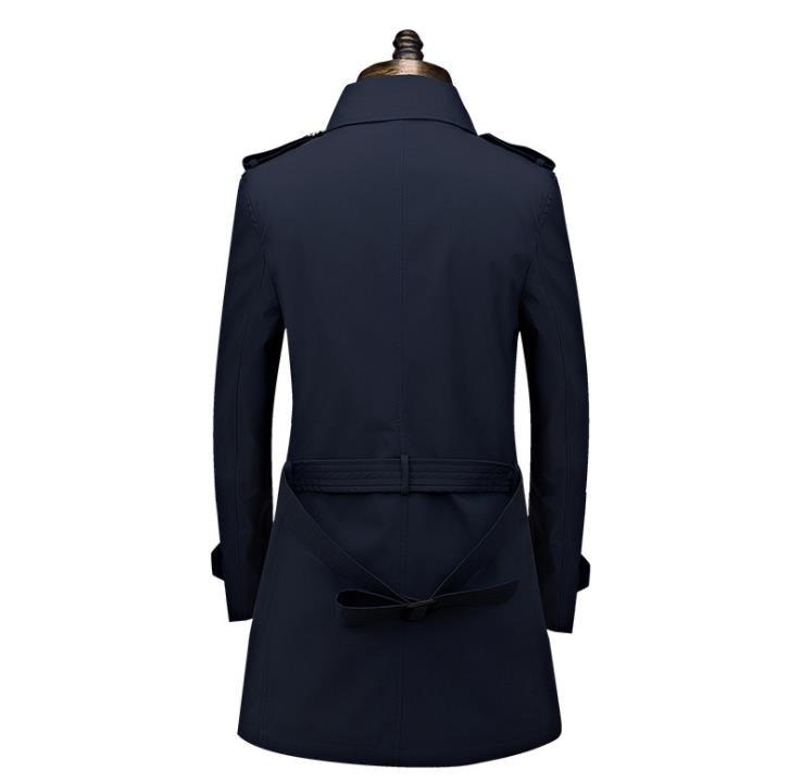 남성 트렌치 코트 가을 겨울 남성 롱 코트 자켓 비즈니스 캐주얼 더블 브레스트 자켓 플러스 사이즈 8xl 남성 남성 의류-에서트렌치부터 남성 의류 의  그룹 3