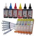 Совместимый PGI 550 CLI 551 набор чернил для CANON pixma MG6350 MG7150 MG7550 IP8750 принтер + 6 цветных чернил 100 мл