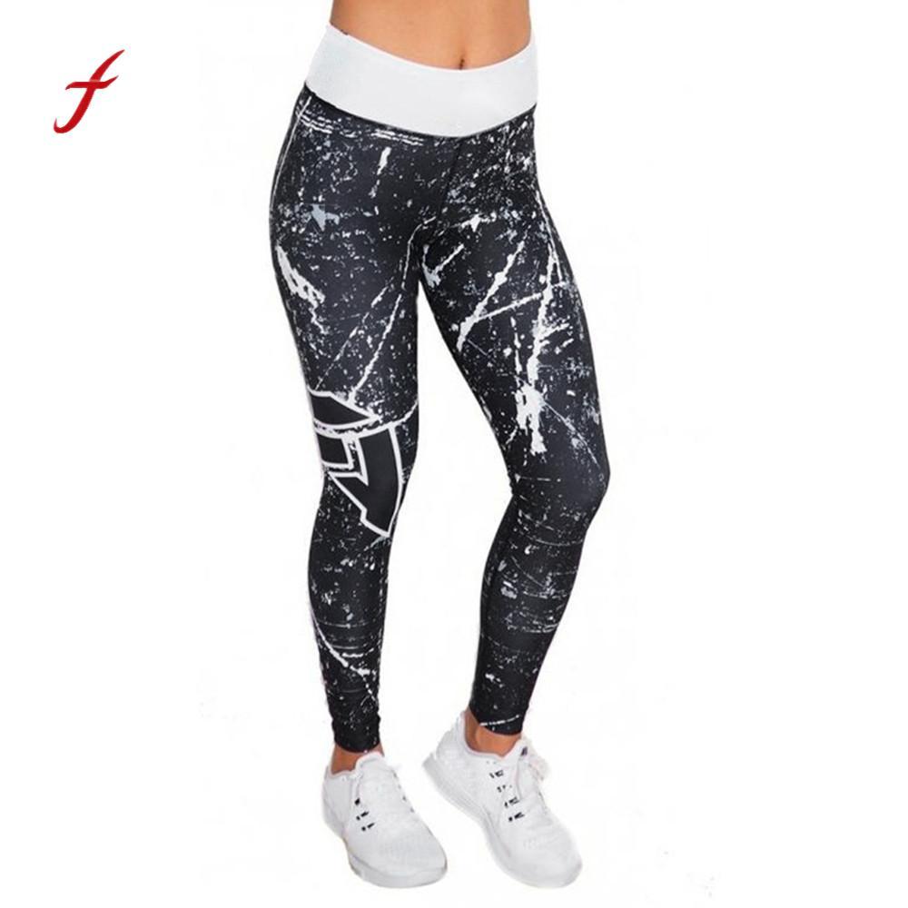 Womens Sky Printed Sporting Leggings Skinny Women Fitness Legging Pants Slim Wicking Force Exercise Clothes Trouser