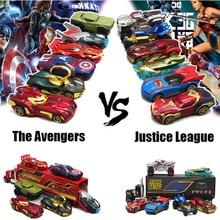 Горячая 1: 64 игрушечный автомобиль Мстители VS Лига Справедливости автомобиль сплав литья под давлением и игрушка литая машинка Модель автомобиля игрушки для детей
