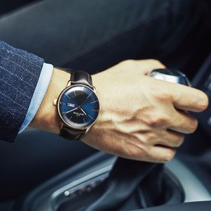 Image 3 - Reef Tiger/RT יוקרה שמלת שעון גברים אמיתי עור רצועת כחול שעון אוטומטי מכאני שעונים עמיד למים תאריך שעון RGA8238