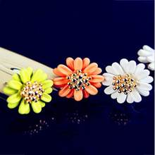 SexeMara High Quality New Brand Bohemia Vintage Daisy Flower Summer Jewelry Stud Earring For Women(China)