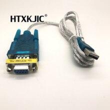 1 Uds USB a RS232 puerto serie de 9 pines DB9 de serie Cable de adaptador de puerto COM convertidor de nuevo con DB9 hembra a hembra 1 Uds
