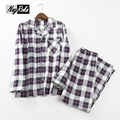 New Autumn winter pure 100% cotton plaid long-sleeve Pyjamas male plus size casual pajamas sets husband sleepwear pyjamas men