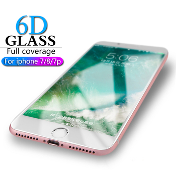 HICUTE 6D Protective Glass for iPhone 7 8 screen protector iPhone 7 8 plus Tempered Glass on iPhone 7 8 plus screen protection