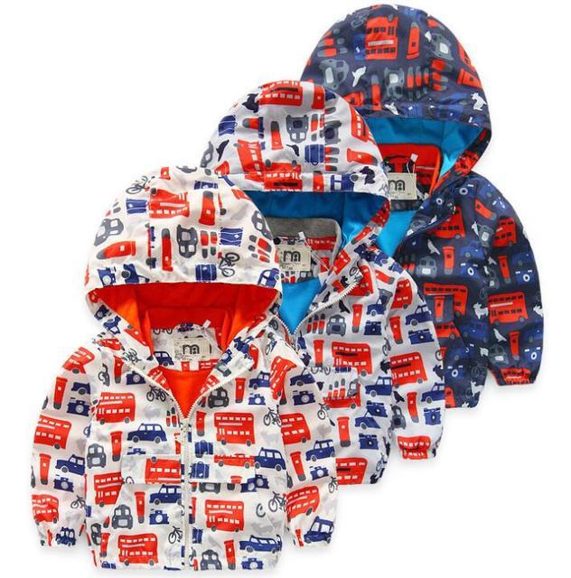 De los Bebés del otoño coche autobús de Esquí-desgaste chaqueta de cremallera Con Capucha capa de Los Niños al por mayor