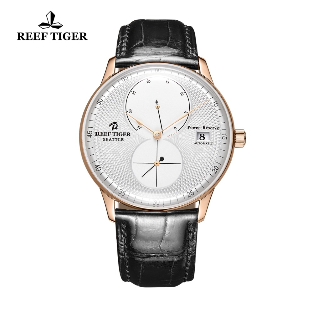 2019 Reef Tiger/RT Men Luxury Watch Rose Gold Automatic Watch Brown Leather Strap Analog Watches Relogio Masculino RGA82B02019 Reef Tiger/RT Men Luxury Watch Rose Gold Automatic Watch Brown Leather Strap Analog Watches Relogio Masculino RGA82B0
