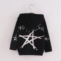 Harajuku Style Unisex Baby Kid Sweatshirt Coat Five Pointed Star Costume Hoodie Coat Children Little Boy