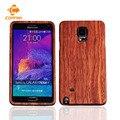 Retro de madera de bambú caja del teléfono para samsung galaxy note 4 n9100 Contraportada Dura madera de Palisandro Nogal Shell Caso de Vivienda Para CORNMI