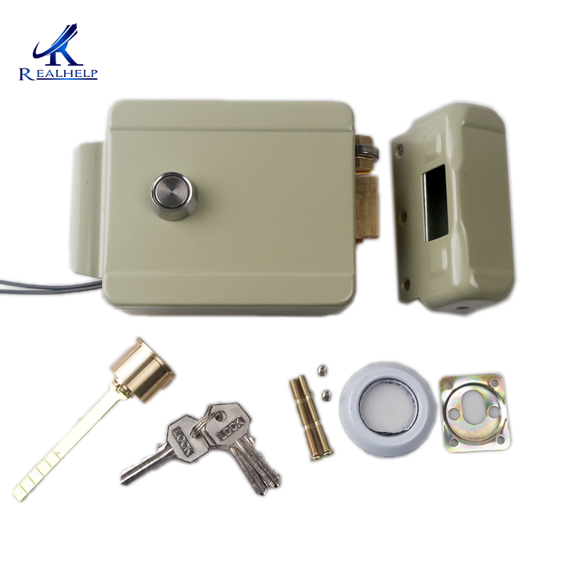Anti-theft Electric Rim Lock For Metal Door Gate China Rim Lock Access Control System Electric Control Lock  Video Door Phone