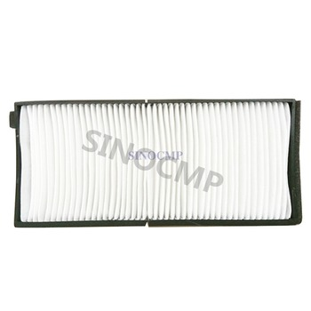 R140LC-9 R160LC-9 Cabin Air Panel Filter 12E1-3500 11Q6-90510 (Length: 242 mm Width:  105 mm Height:  20 mm) for Hyundai