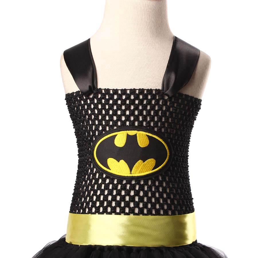 Superman Batman Girls Tutu Dress with Mask Super Hero Inspired Baby ...