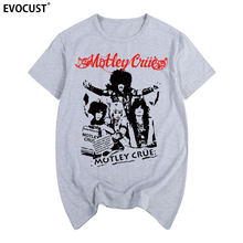 947a538f6a75 2019 banda de rock motley crue Gritar com O Diabo World Tour 1983 Dr.  Feelgood T-shirt Dos Homens do Algodão T camisa Do Vintage.