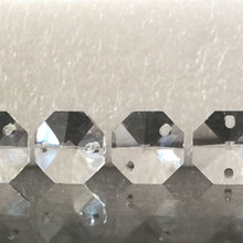 1000 шт Высокое качество 14 мм Хрустальные Восьмиугольные бусины K9 хрустальные лампы и аксессуары Diy стеклянные бусины для занавесок