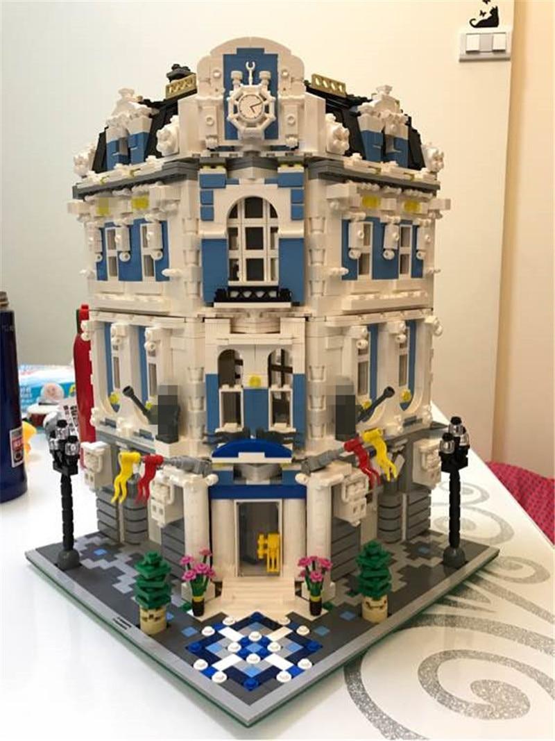 New 3196pcs Lepins  MOC City The Sunshine Hotel Set Streetview Building Blocks Bricks Figures Toys Gift for Boys Girls