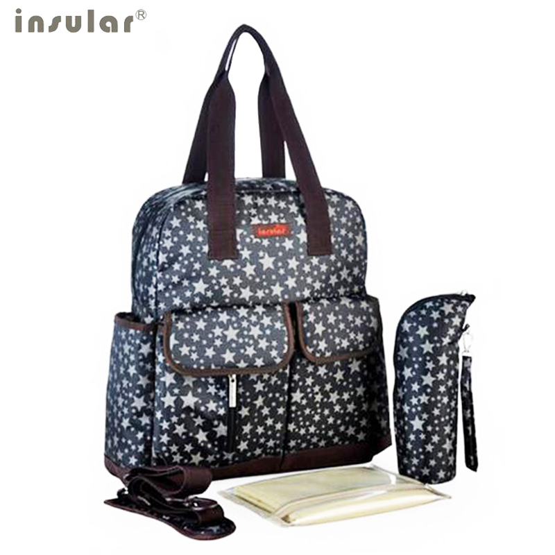 ФОТО Insular Multifunctional Backpack baby nappy bag baby diaper bags maternity bag messenger Handbag diapering bag star TOTE