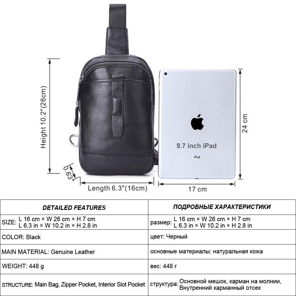 SEVENE нагрудные сумки на одно плечо сумка Повседневная Натуральная кожа сумки через плечо мужские сумки мессенджеры сумки для бега альпинистские дорожные сумки - 2