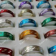 2000 шт/лот красивые разноцветные Алюминиевые кольца из сплава