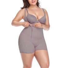 Mulher bunda enhancer aberto virilha bodyshaper plus size 6xl cinza preto bodysuit uma peça estômago shaper cintura emagrecimento roupa interior