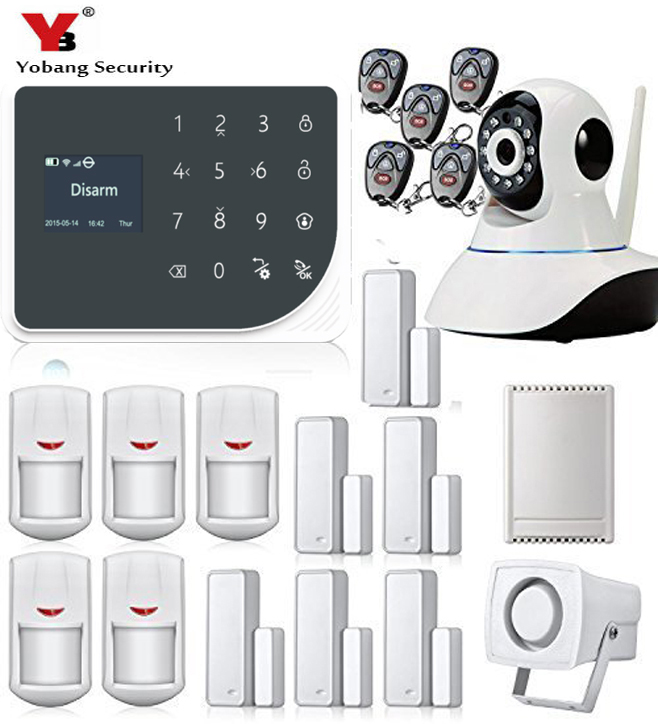 YoBang Security Burglar font b Alarm b font System Android IOS APP Remote Control Home Security