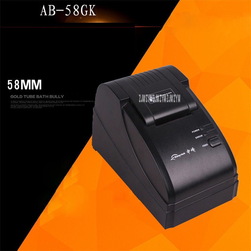 AB-58GK 48.5mm thermal small ticket printer Mini thermal restaurant bill printer USB/parallel interface pos receipt printer 15V serial port best price 80mm desktop direct thermal printer for bill ticket receipt ocpp 802