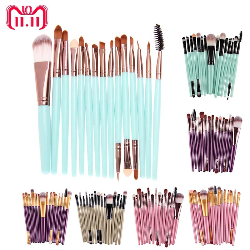 4/15pcs Makeup brushes Professional Eyebrow Blusher Lip Powder Foundation Eyeshadow Eyeliner Cosmetic Make up Brush Set Maquiage