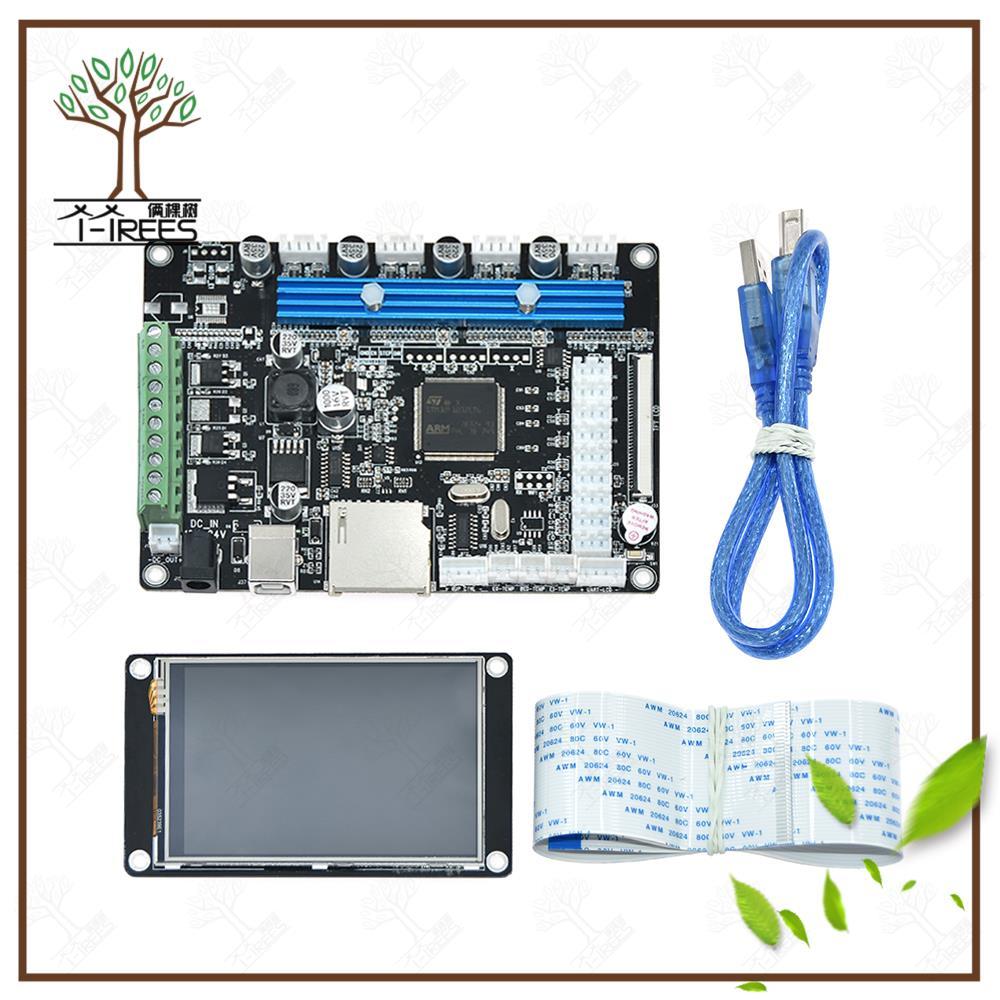 купить 3D Printer (STM32 Motherboard LCD) Stepper Motor Driver Module with TFT32 v3.5 touch screen 3d printer part parts starter kit по цене 2237.12 рублей
