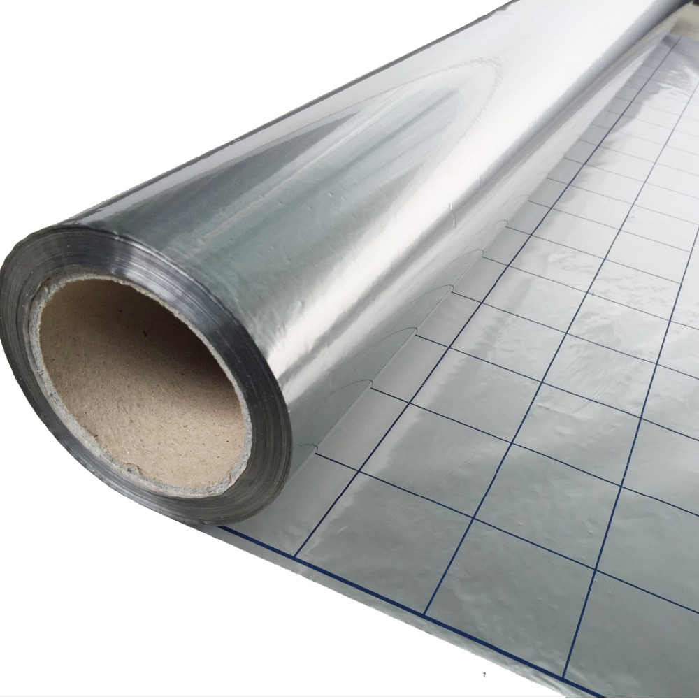Reflective Film For Electric Underfloor Heating System 4CR Energy Saving Aluminum Foil Insulation Thermal Material, 5m2/lot